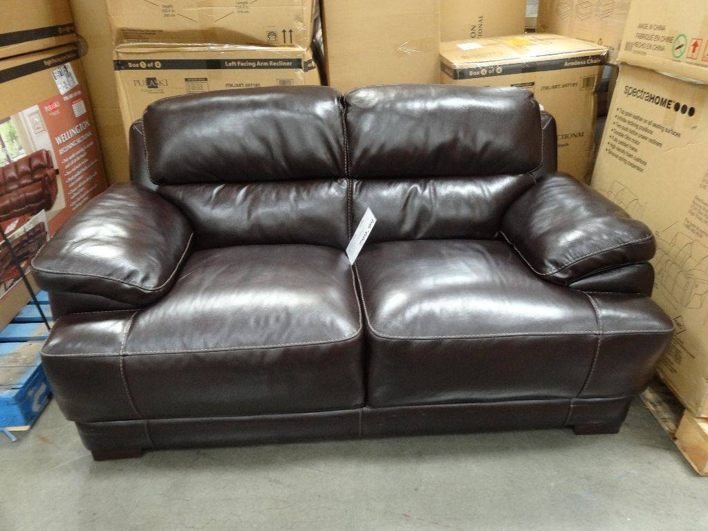 Simon Li Hunter Leather Loveseat throughout Simon Li Loveseats (Image 8 of 15)