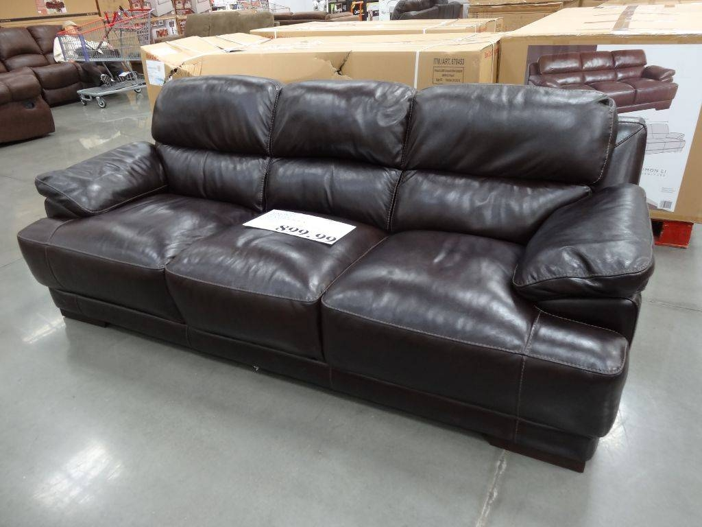 Simon Li Hunter Leather Sofa inside Costco Leather Sectional Sofas (Image 13 of 15)