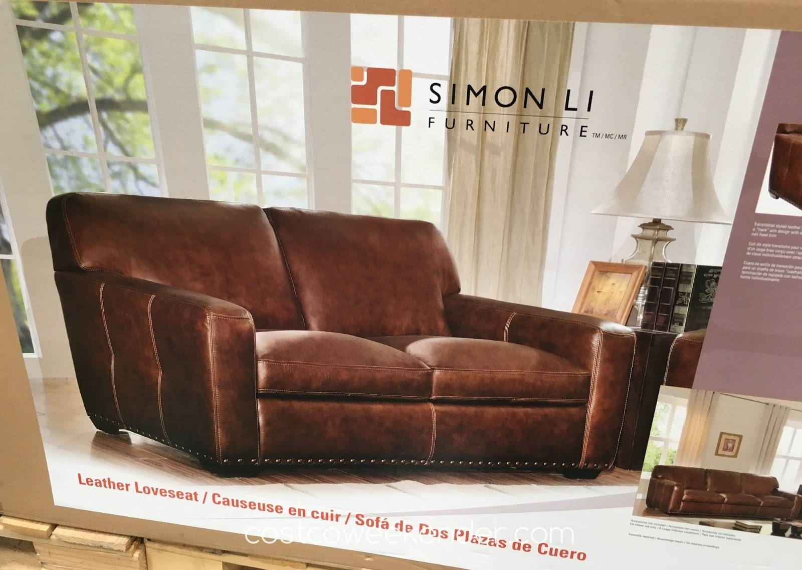 Simon Li Leather Loveseat | Costco Weekender pertaining to Simon Li Loveseats (Image 9 of 15)