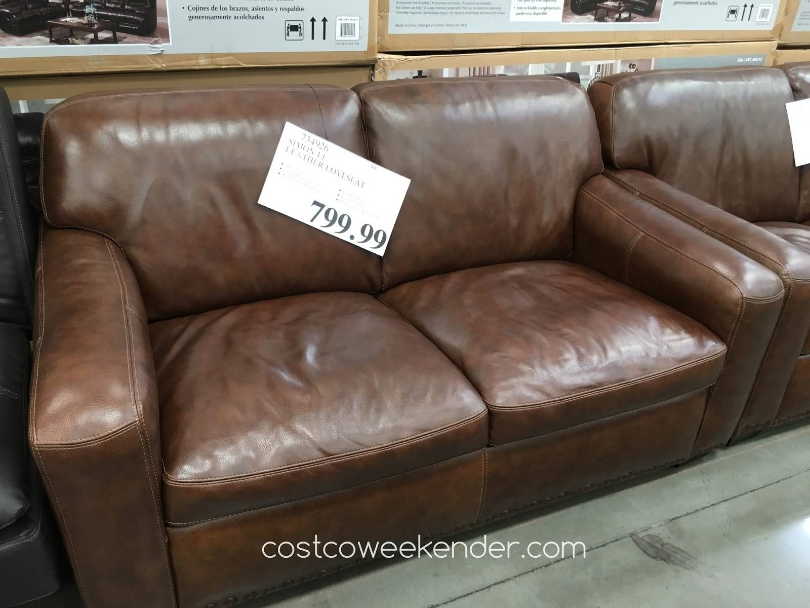 Simon Li Leather Loveseat | Costco Weekender throughout Simon Li Loveseats (Image 10 of 15)