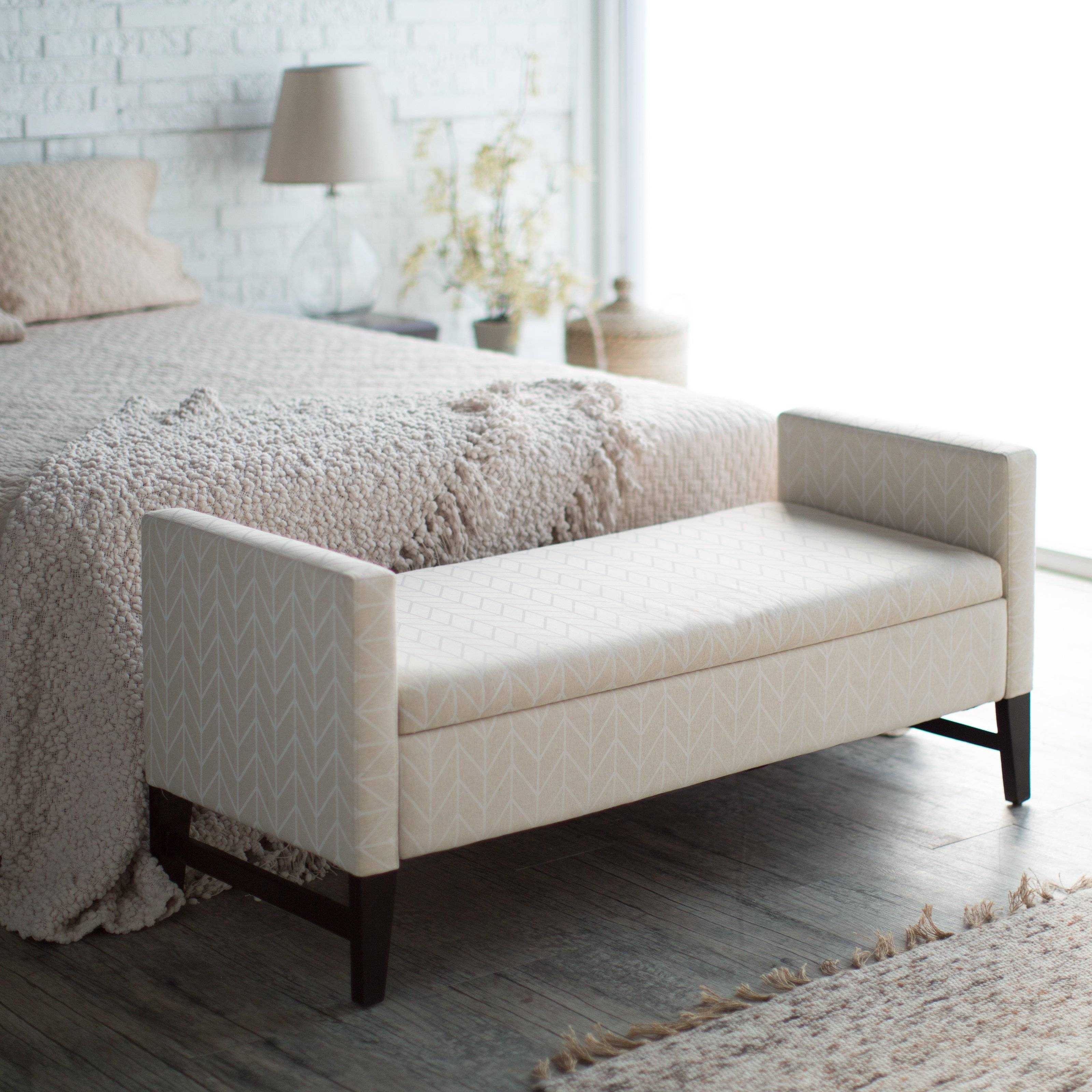 Sitting Pretty: Bedroom Benches - Room Refresh | Hayneedle in Bedroom Bench Sofas (Image 15 of 15)