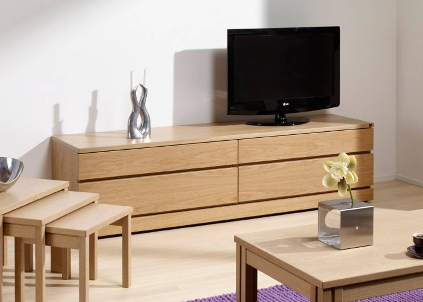 Skovby Sm87 Tv Cabinet In Light Oak Finish 1 - Midfurn Furniture intended for Light Oak Tv Cabinets (Image 11 of 15)