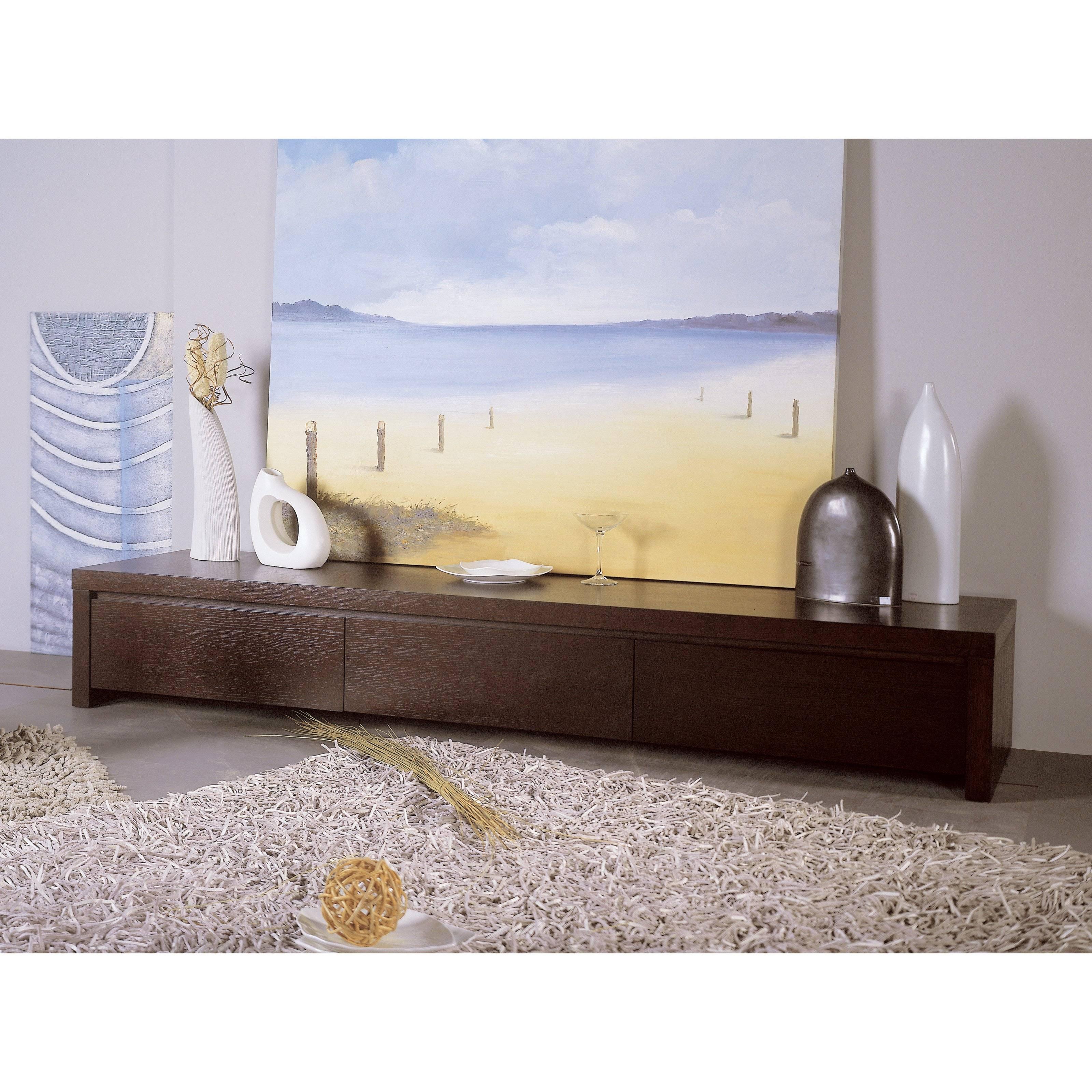 Slender Tv Stand - Oak | Hayneedle inside Wenge Tv Cabinets (Image 7 of 15)