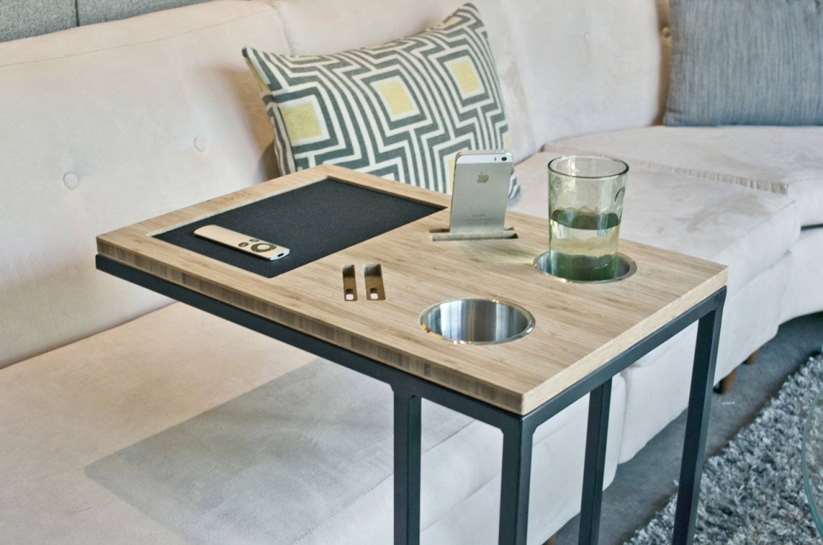 Slide Under Couch Tables | Coffe Table Ideas pertaining to Under Sofa Tray Tables (Image 6 of 15)