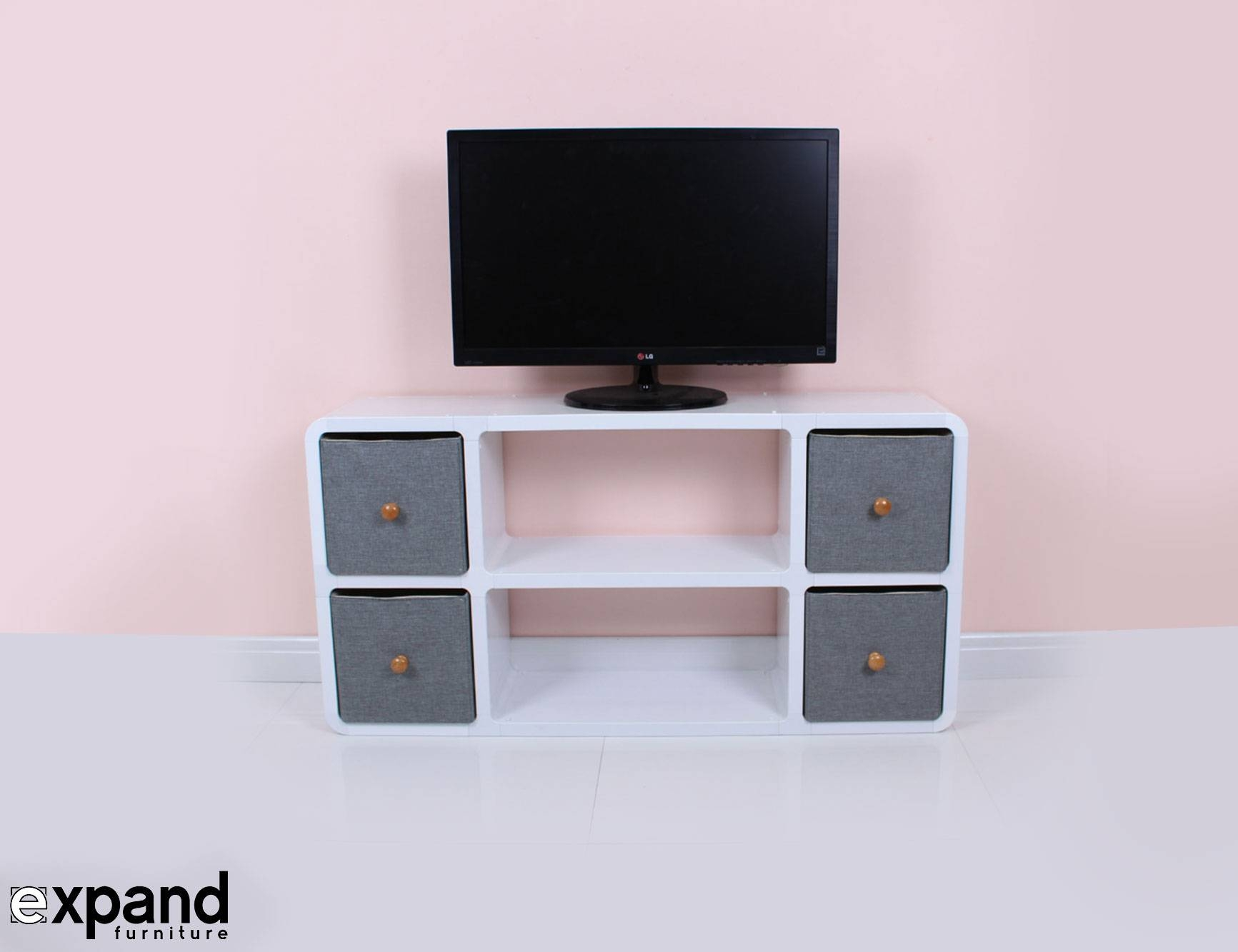 Slim Tv Stand 6 – Made For Modern Thin Tvs |Expand Within Skinny Tv Stands (View 7 of 15)