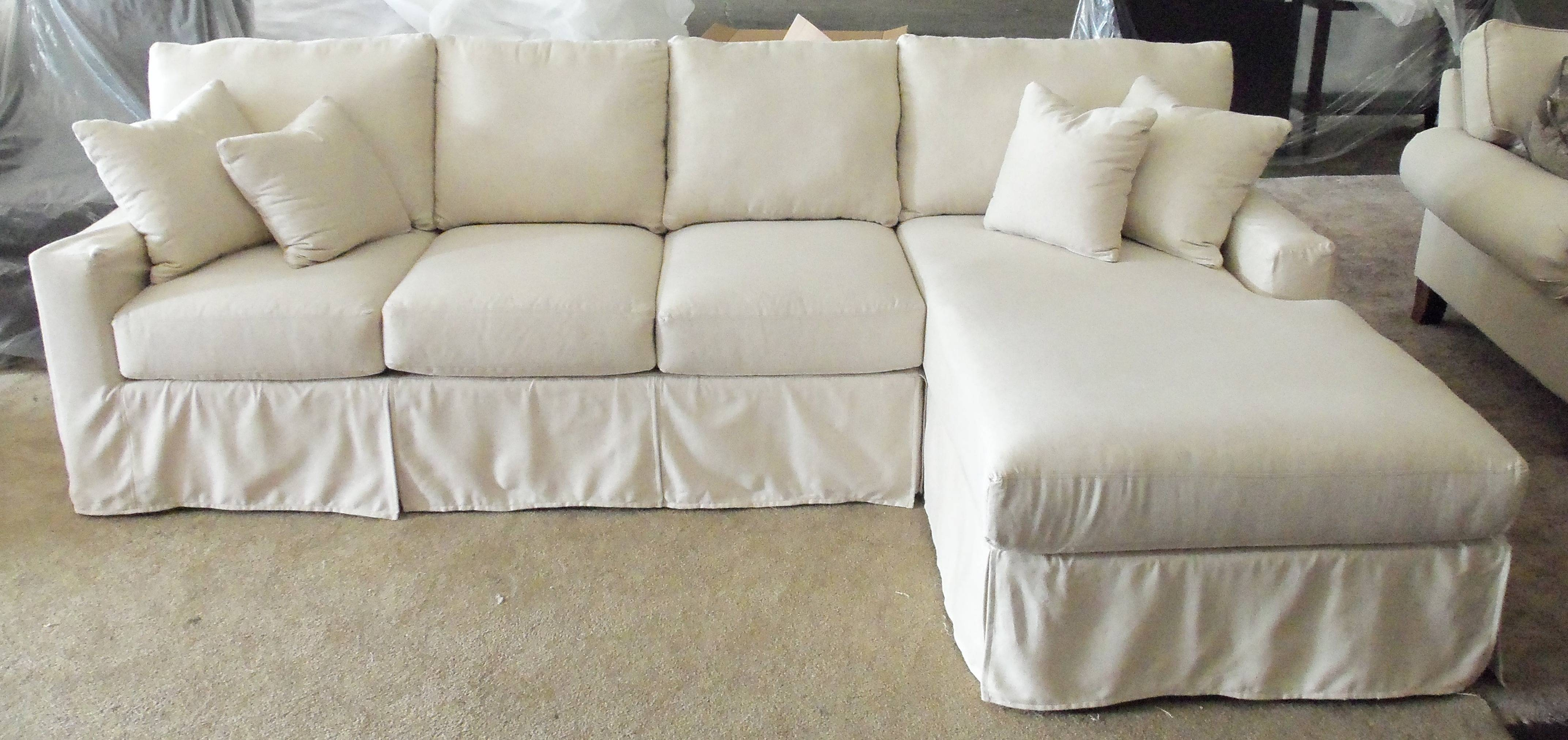 Slipcover For Sectional Sofa With Chaise - Cleanupflorida inside Slipcovered Chaises (Image 9 of 15)