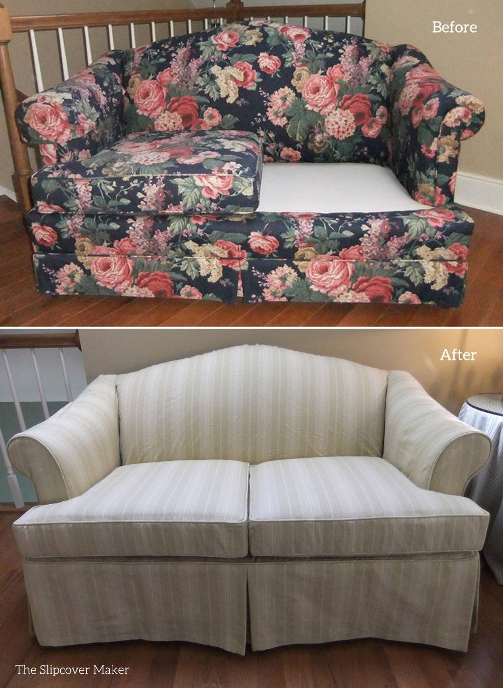 Slipcover Maker In Kalamazoo | The Slipcover Maker regarding Striped Sofa Slipcovers (Image 8 of 15)