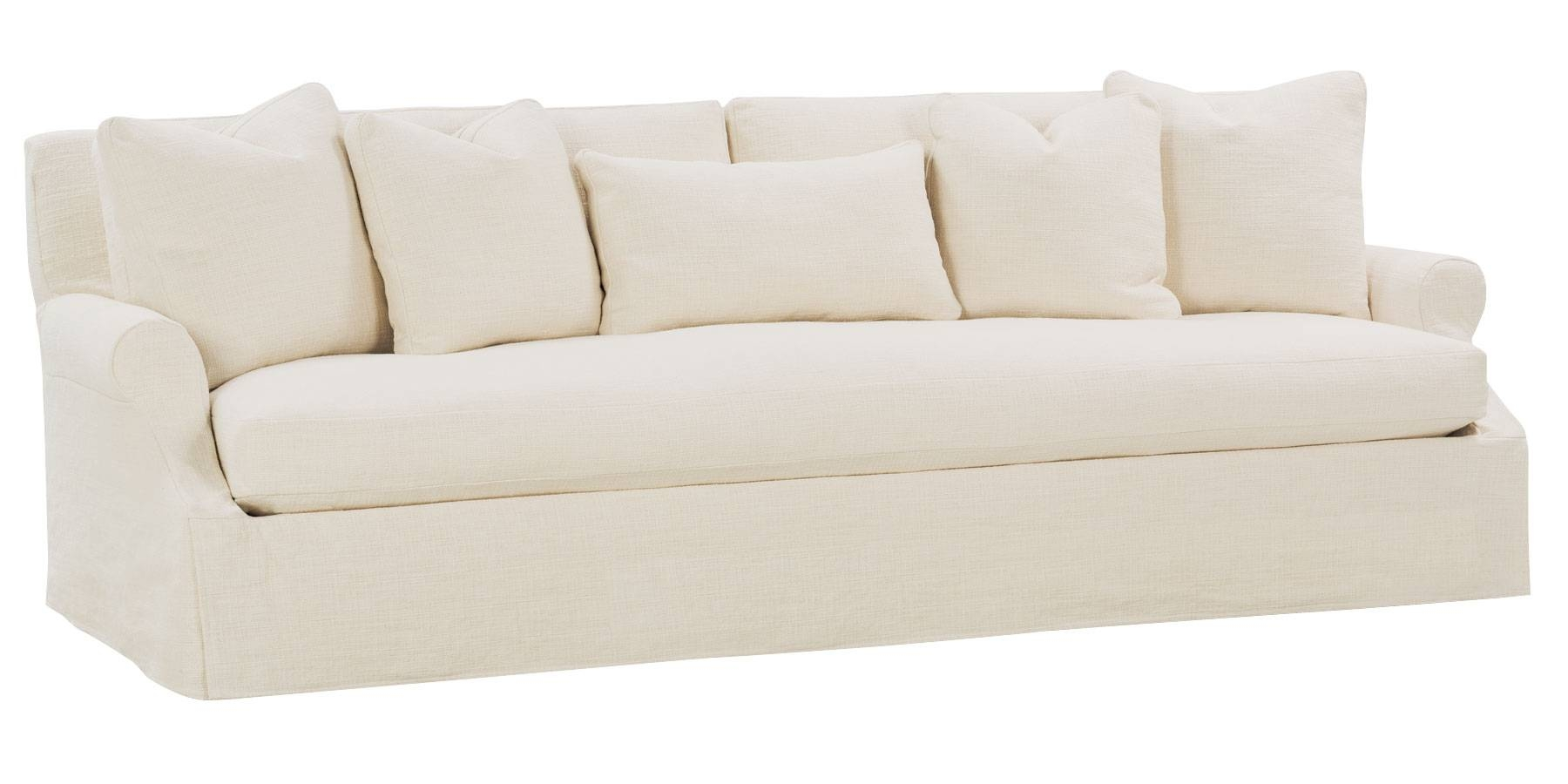 Slipcovered 3 Lenghts Select-A-Size Bench Seat Extra Long Grand for Bench Style Sofas (Image 8 of 15)