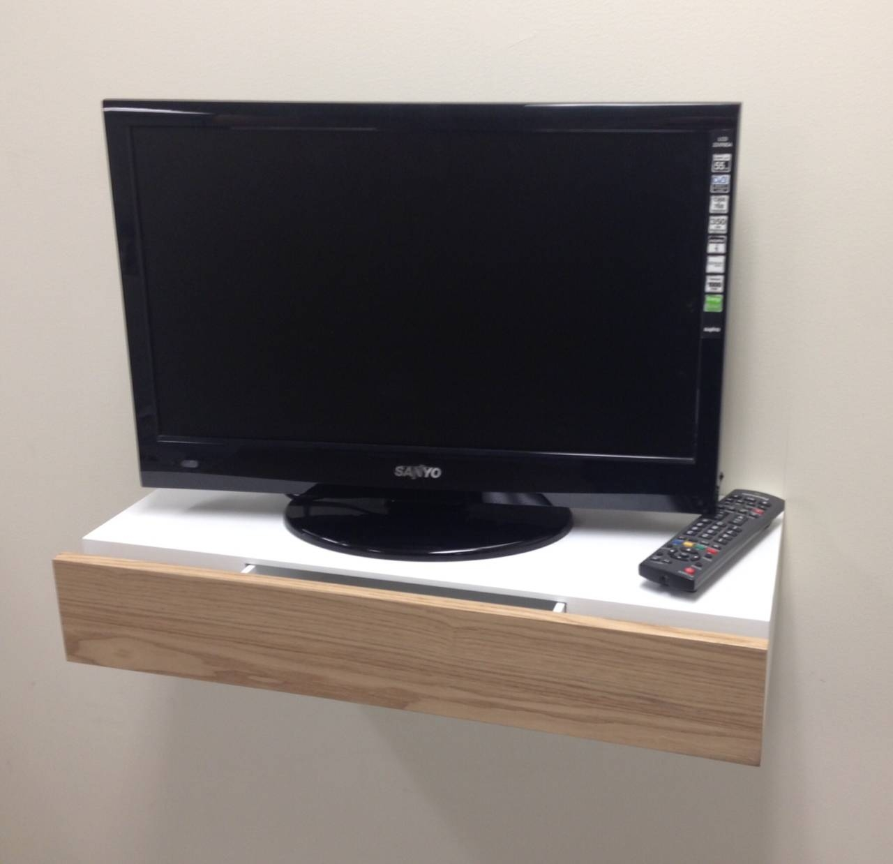 Small And Simple Floating Tv Stand With Drawer For Small Living pertaining to Tv Stands For Small Spaces (Image 9 of 15)