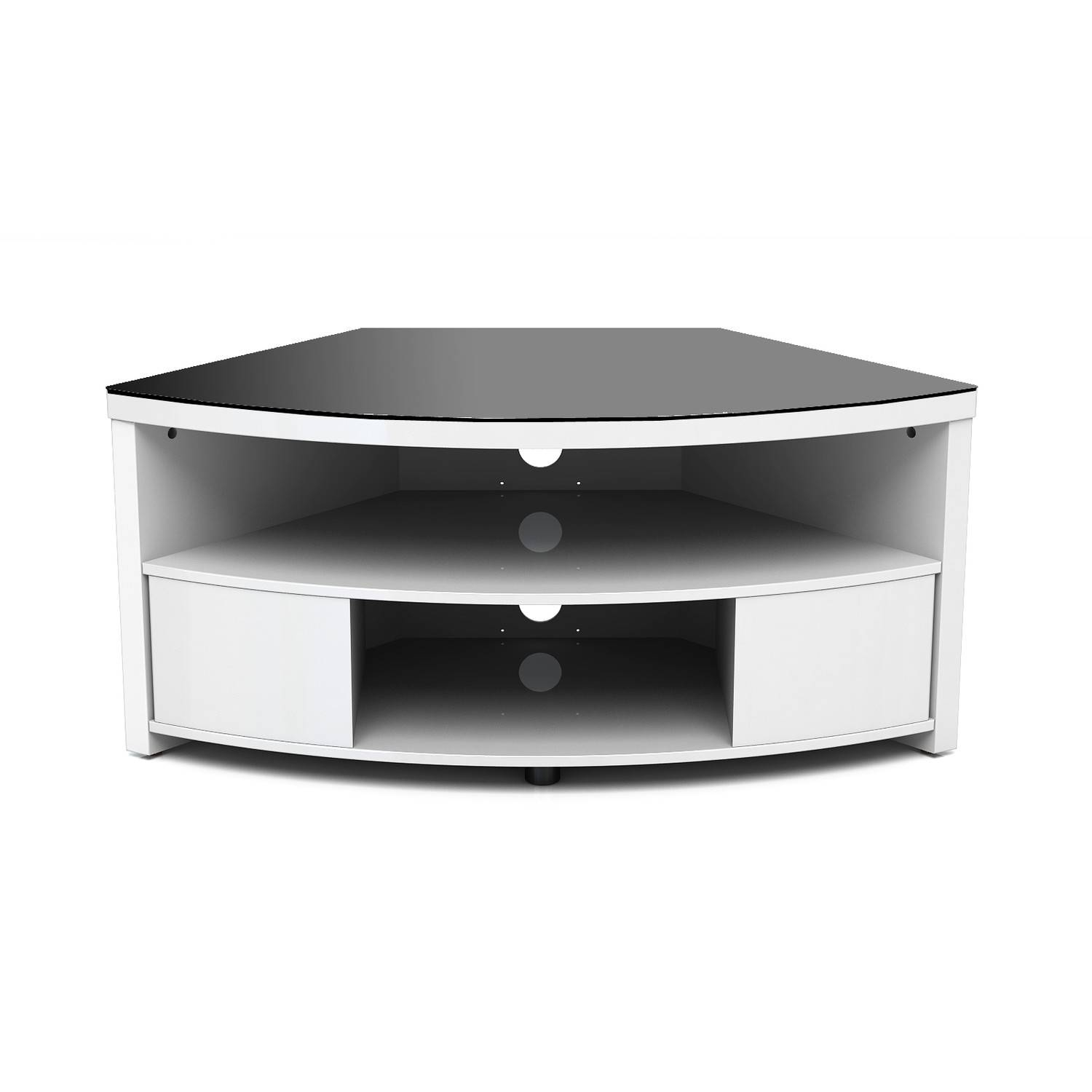 Small Corner Low Profile Tv Console With Storage And Drawer Throughout Small White Tv Cabinets (Photo 9 of 15)