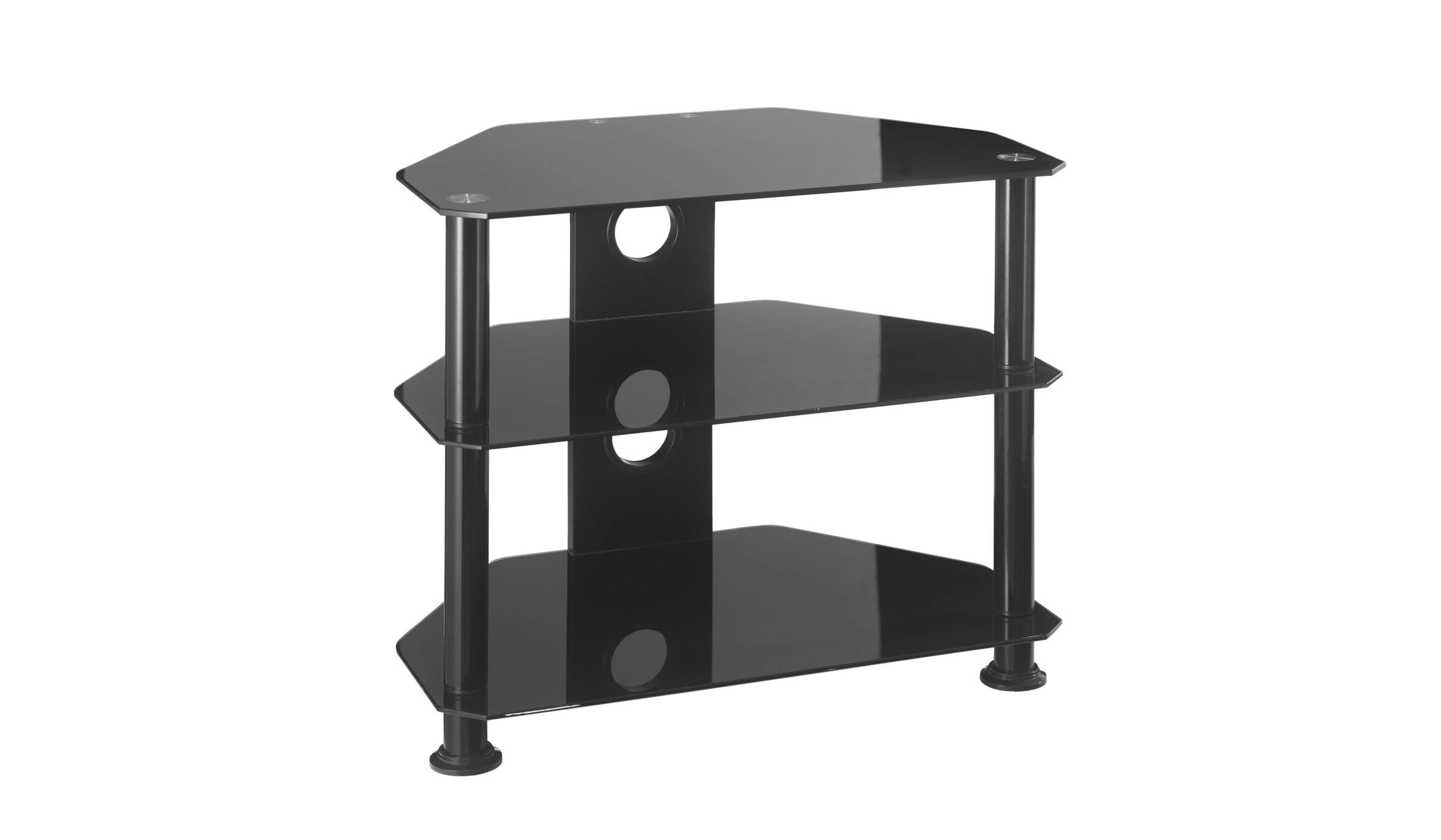 Small Glass Corner Tv Stand Up To 26 Inch Tv | Mmt-Db600 for Small Tv Cabinets (Image 10 of 15)