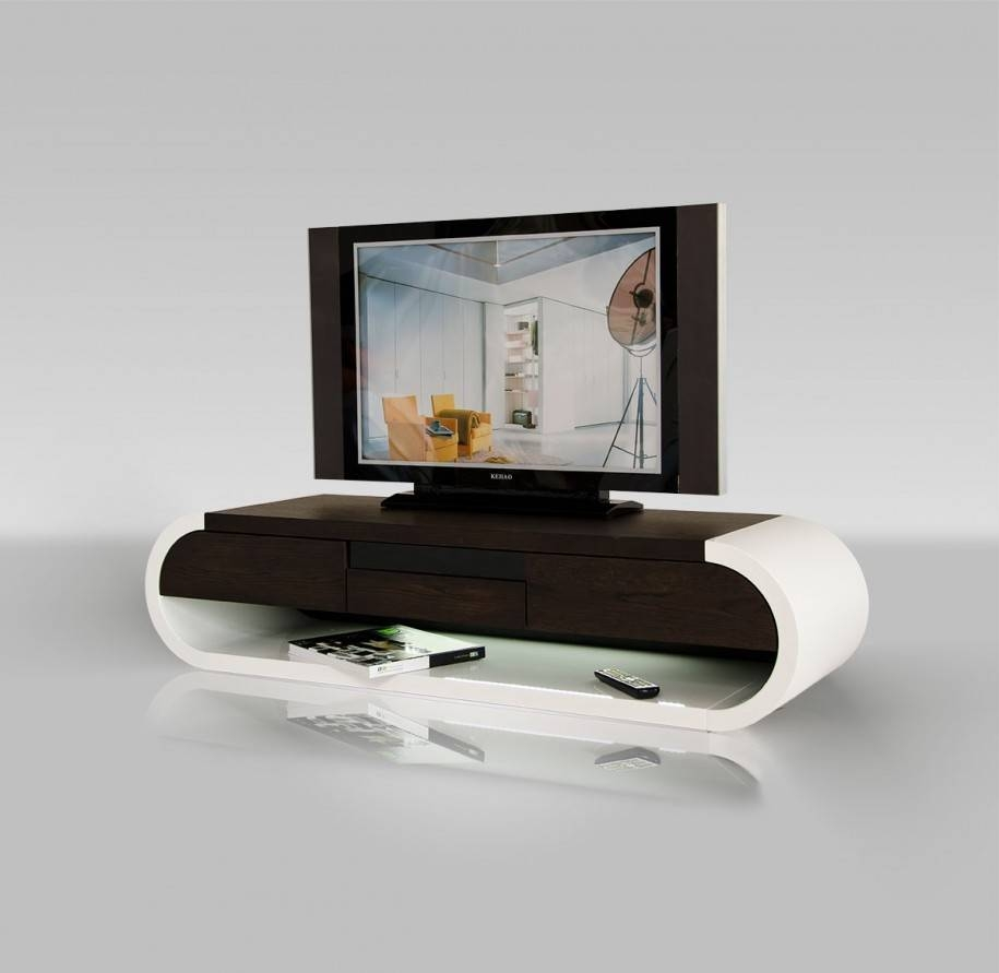 Small Modern And Cool Wood Tv Stand With White And Brown Color with regard to Cool Tv Stands (Image 10 of 15)