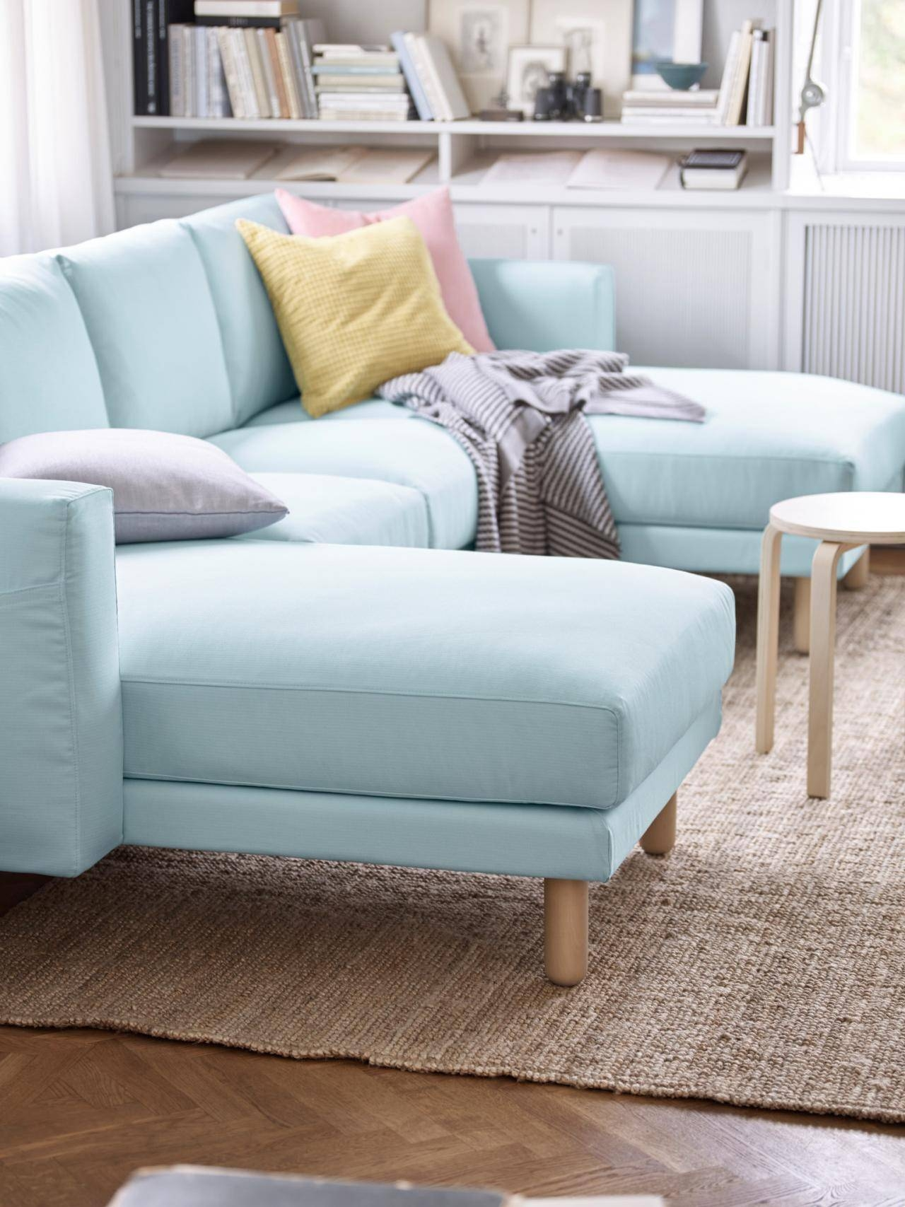 Small Sectional Sofa. Charming Small Sectional Sofa For Modern intended for Sky Blue Sofas (Image 13 of 15)