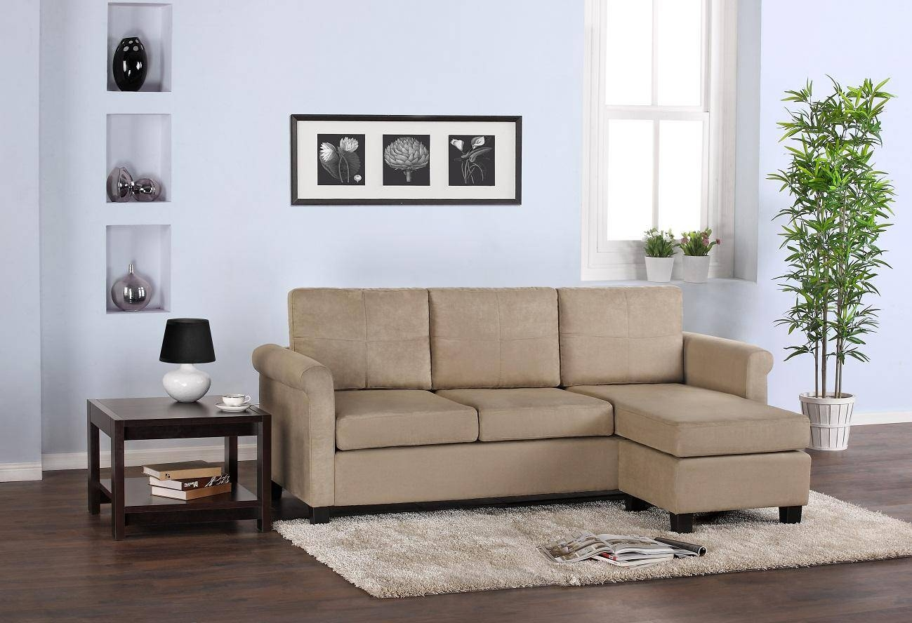 Small Sectional Sofa For Small Space With Rounded Arms Also Chaise intended for Small Sofas With Chaise Lounge (Image 9 of 15)