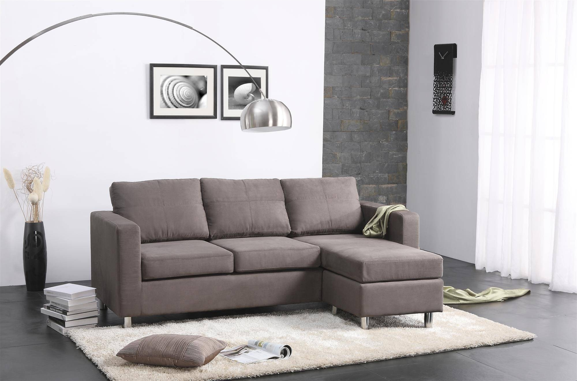 Small Sectional Sofas For Small Spaces - Decofurnish intended for Small L-Shaped Sofas (Image 13 of 15)