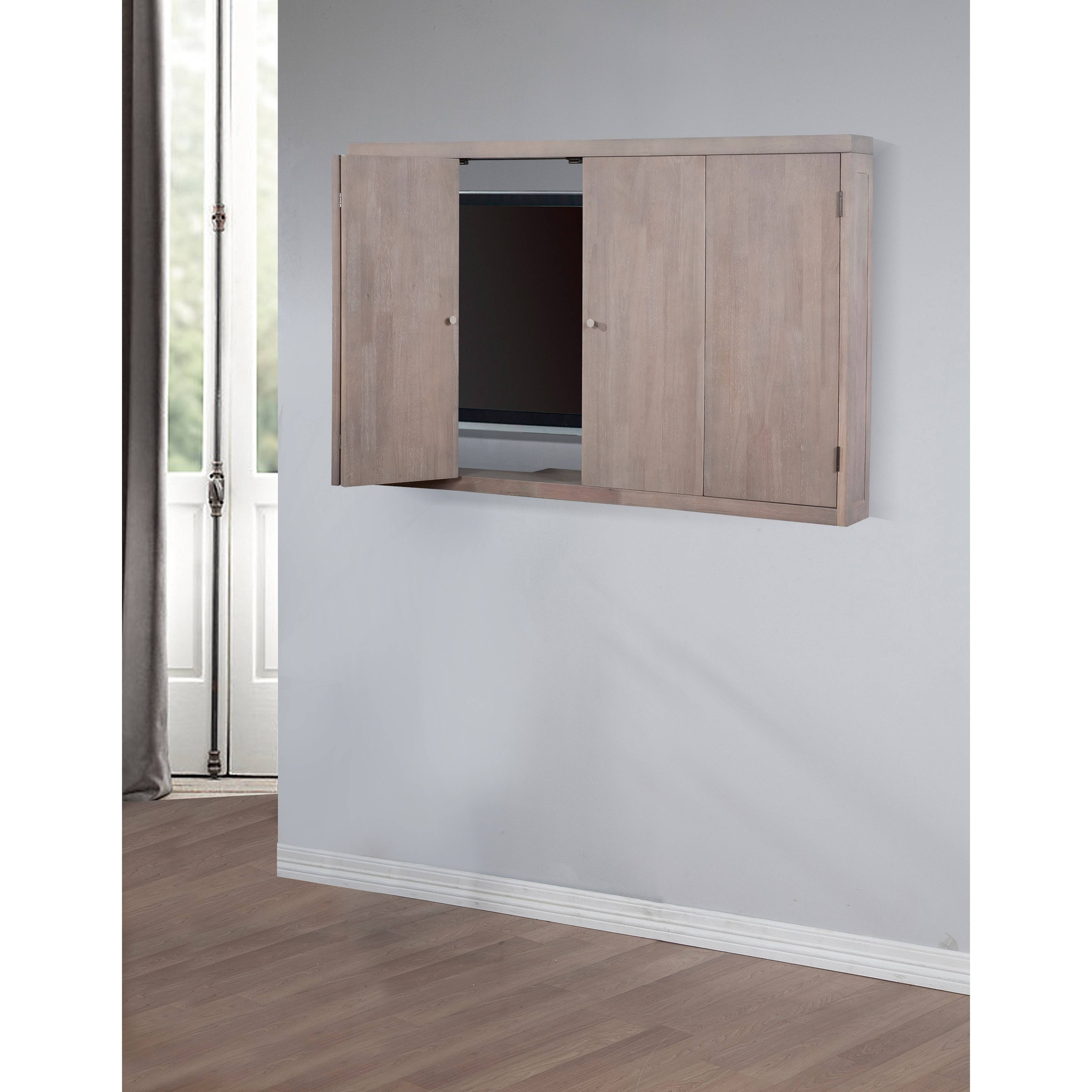 Flat Screen Tv Cabinets With Doors Wall Mount Home Design Ideas