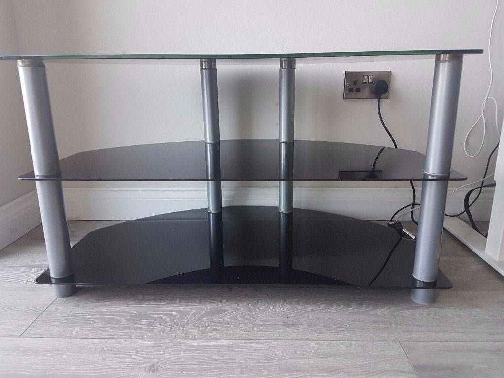 Smoked Glass Tv Stand | In Exeter, Devon | Gumtree Throughout Smoked Glass Tv Stands (View 7 of 15)