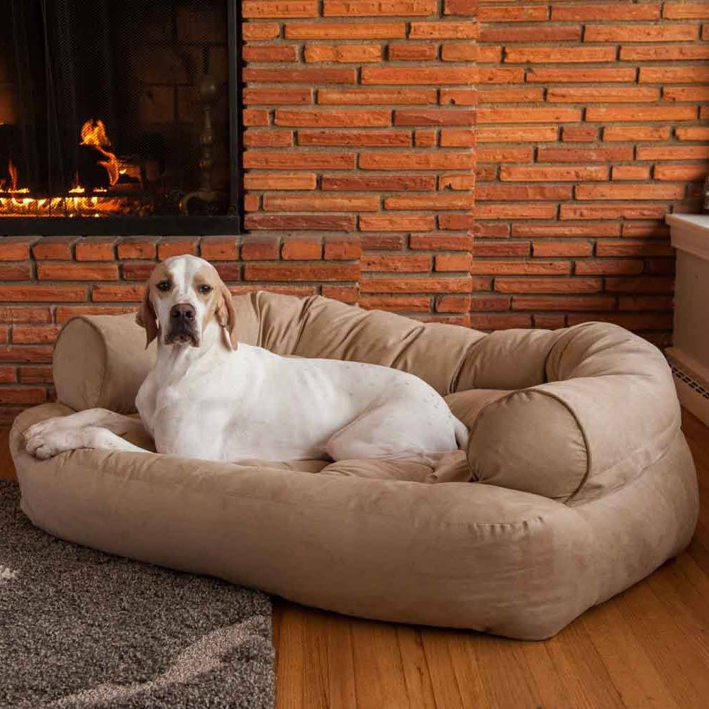 Snoozer Overstuffed Luxury Dog Sofa | Microsuede Fabric for Snoozer Luxury Dog Sofas (Image 13 of 15)