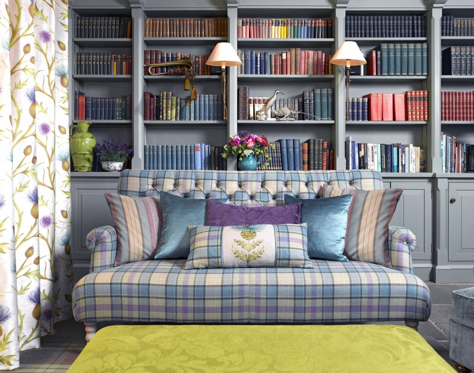 Snuggle Up With Plaid In Your Home in Blue Plaid Sofas (Image 10 of 15)