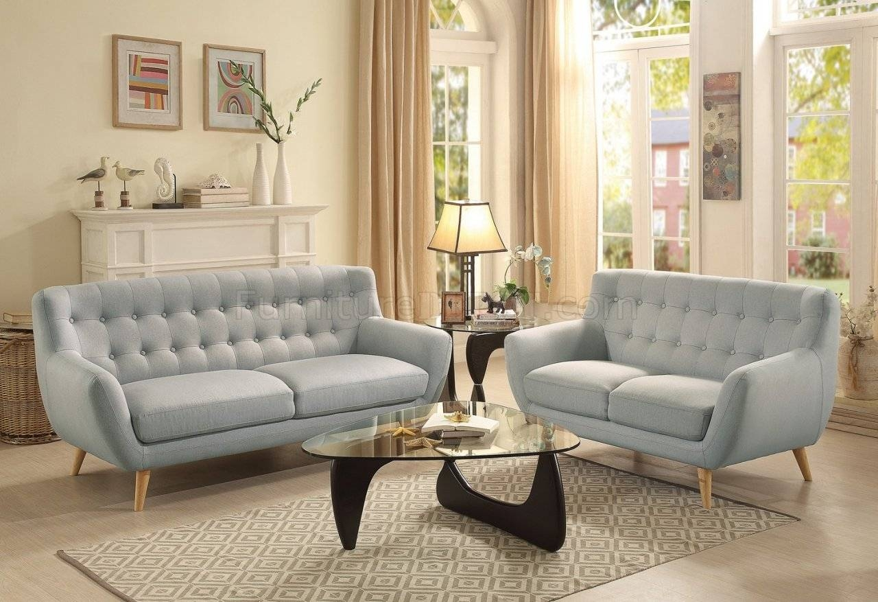 Sofa 8312 In Light Grey Fabrichomelegance W/options intended for Homelegance Sofas (Image 15 of 15)