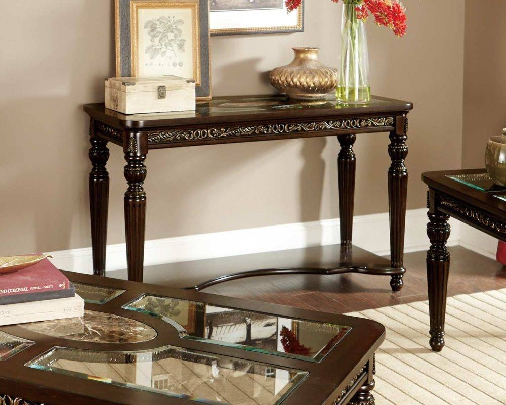 Sofa: Amazing Cherry Wood Sofa Table Design Dark Wood Sofa Table intended for Cherry Wood Sofa Tables (Image 15 of 15)