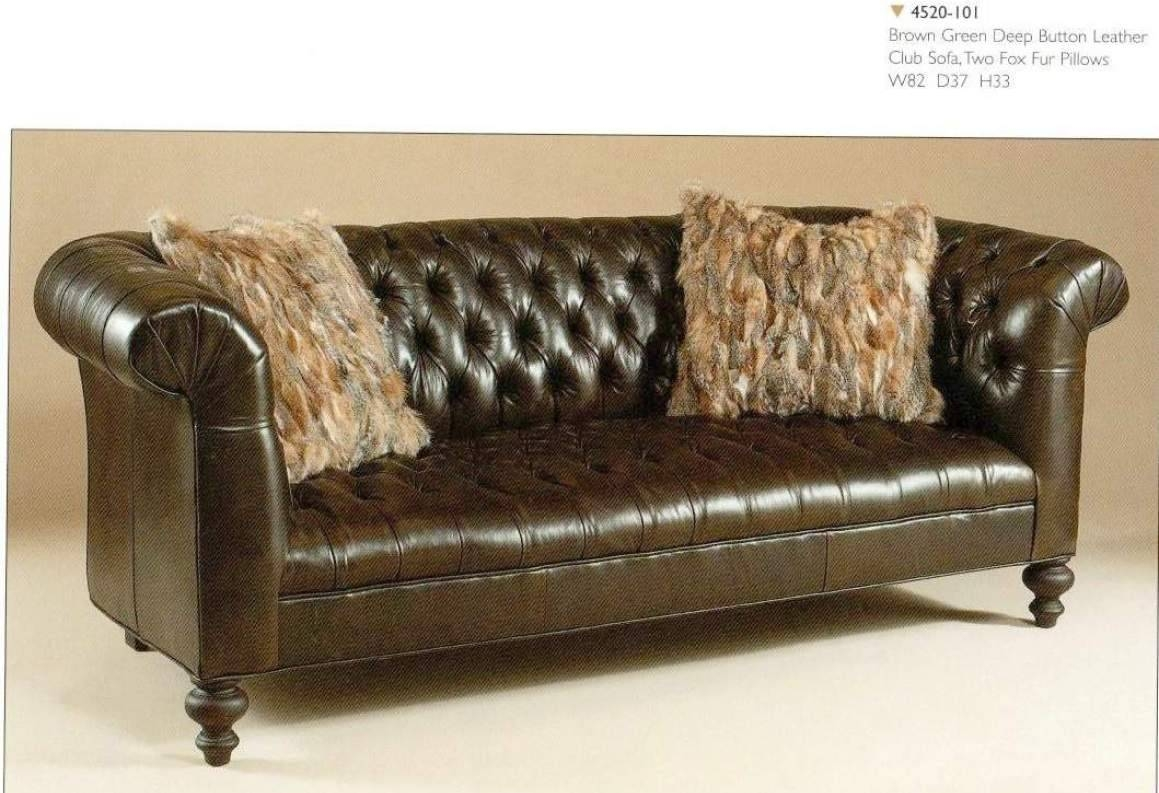 Sofa : Brown Leather Tufted Sofa Blinding Brown And White Sofa with Brown Leather Tufted Sofas (Image 15 of 15)