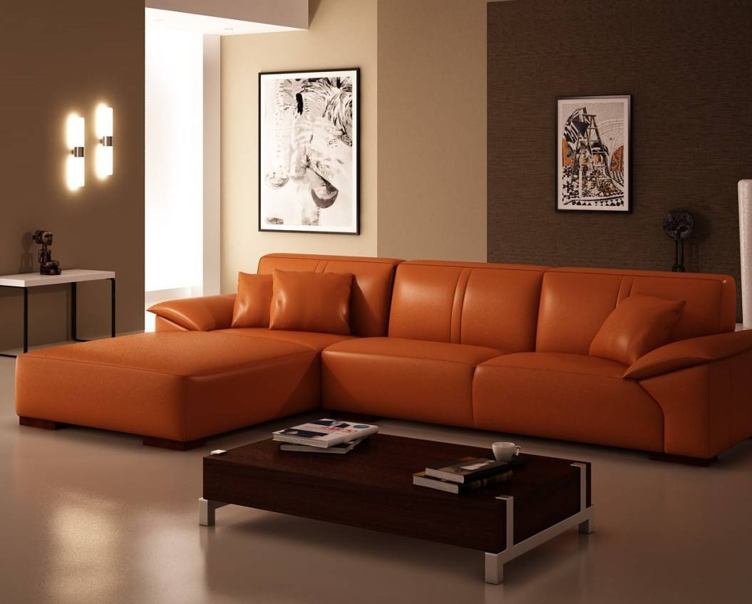 Sofa : Burnt Orange Sofa Best' Magnificent Burnt Orange Fabric inside Burnt Orange Leather Sofas (Image 13 of 15)