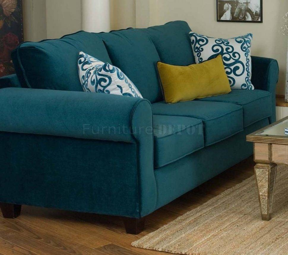 Sofa : Colorful Couches Couches And Sofas Long Couch Microfiber with Blue Microfiber Sofas (Image 13 of 15)