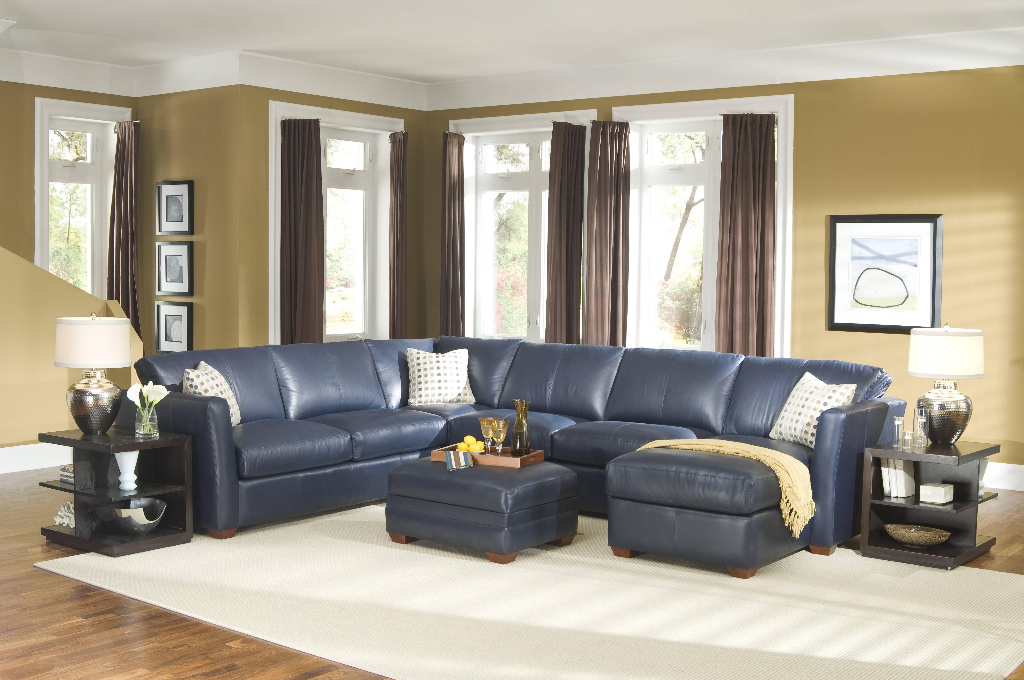 Sofa & Couch: Curved Sectional Sofa | Blue Sectional Sofa regarding Blue Leather Sectional Sofas (Image 13 of 15)