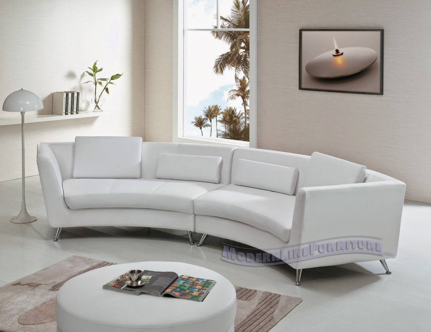 Sofa Curved: Curved Sofa For Bay Window Pertaining To Sofas For Bay Window (View 13 of 15)