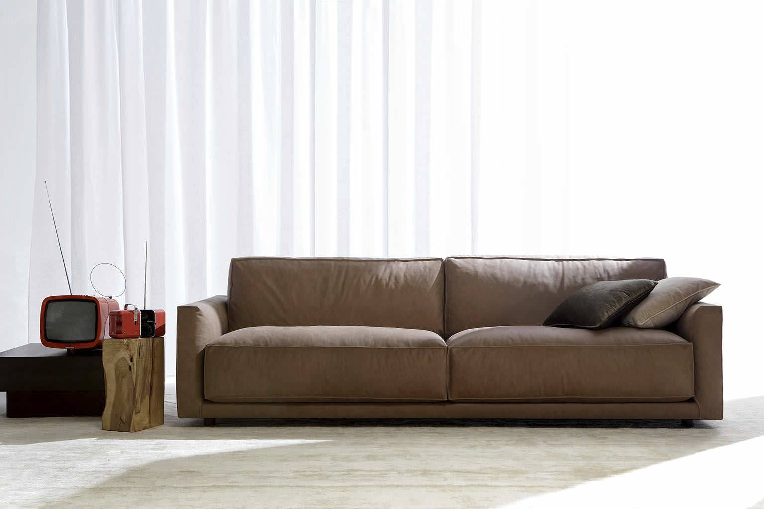 Sofa Design Ideas. Black Modern Leather Sofa In Brown Couch pertaining to Contemporary Brown Leather Sofas (Image 15 of 15)
