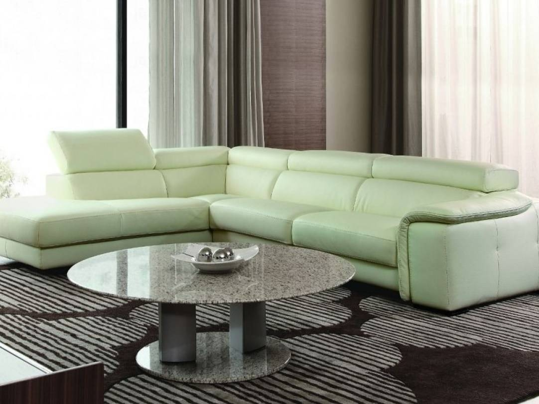 Sofa : Furniture. Gallant Sage Green Leather Sofa Comfortably in Green Leather Sectional Sofas (Image 12 of 15)