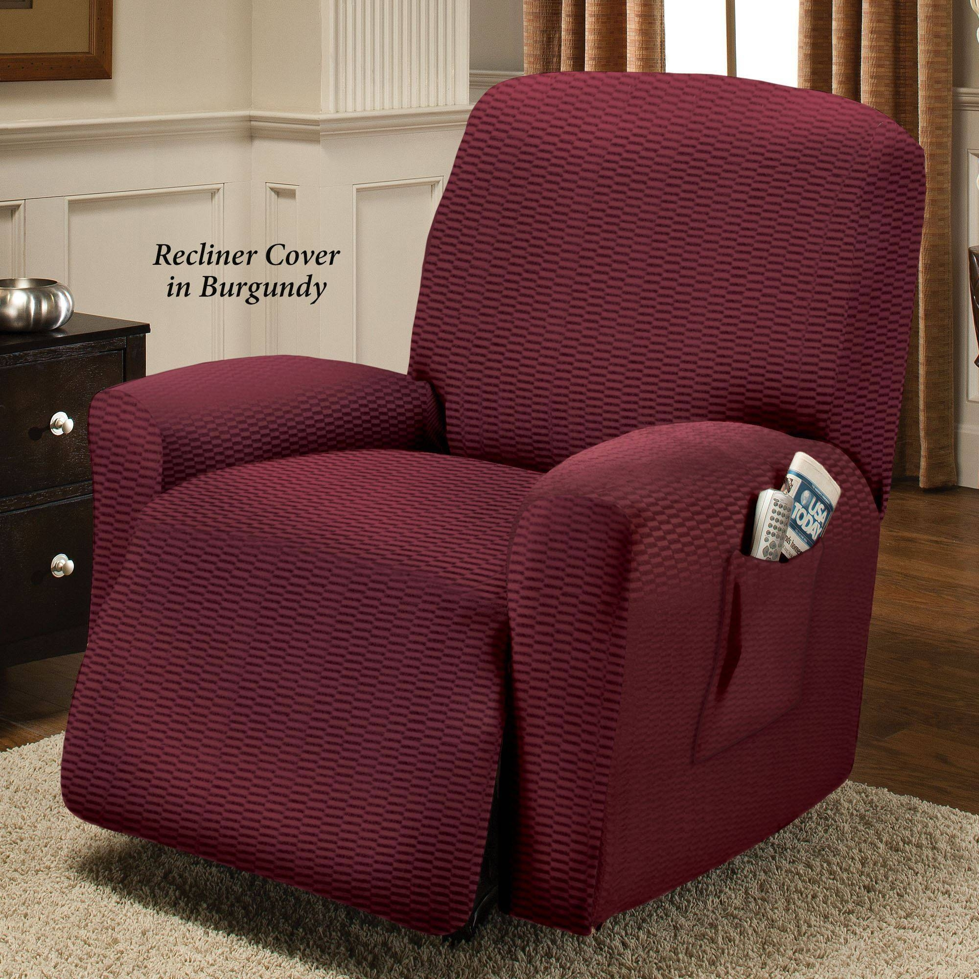 Sofa: Reclining Couch Slipcovers | Double Recliner Sofa Slipcover intended for Recliner Sofa Slipcovers (Image 11 of 15)