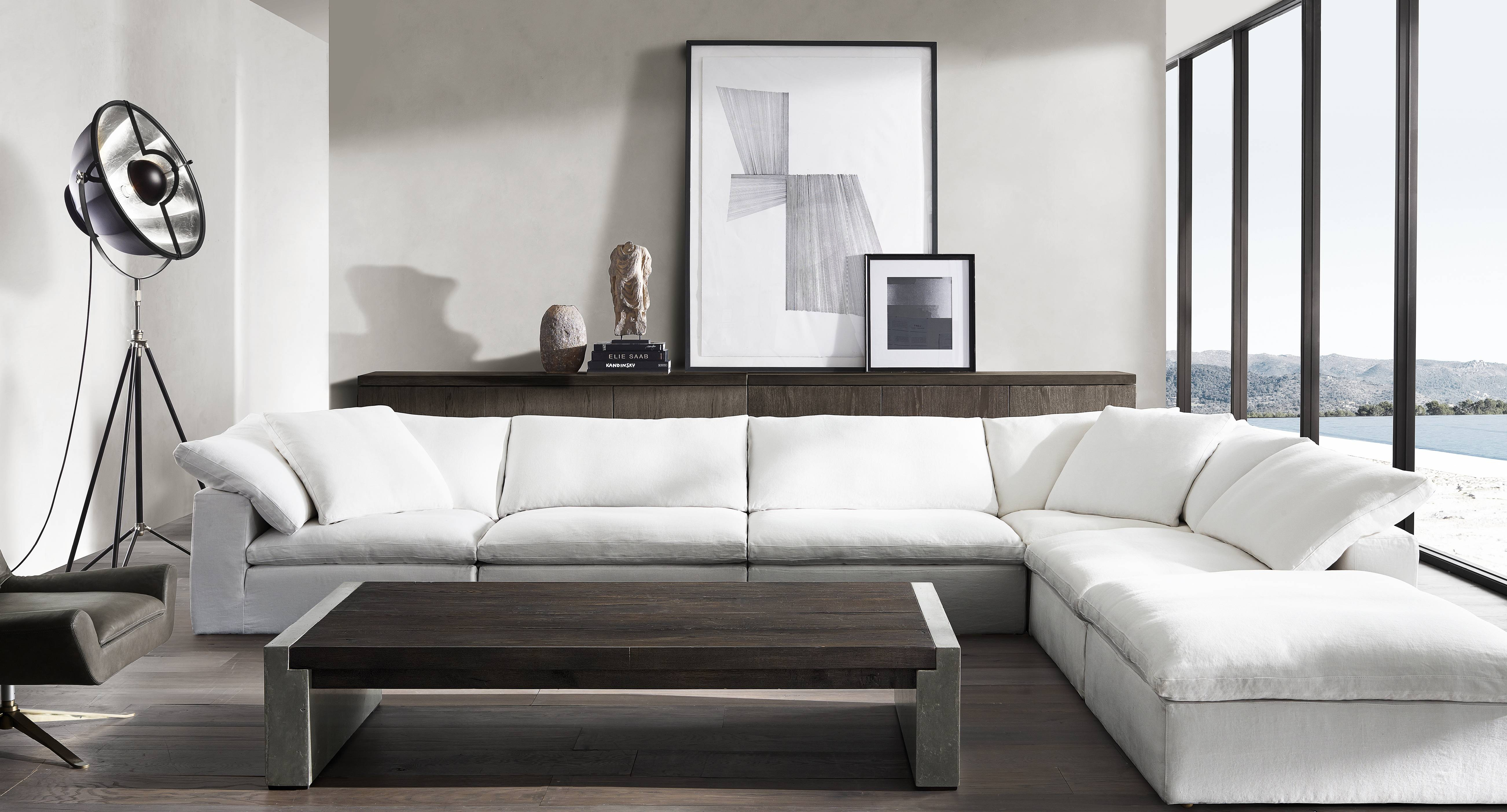 Sofa: Restoration Hardware Sectional Sofas | Restoration Hardware regarding Cloud Sectional Sofas (Image 13 of 15)