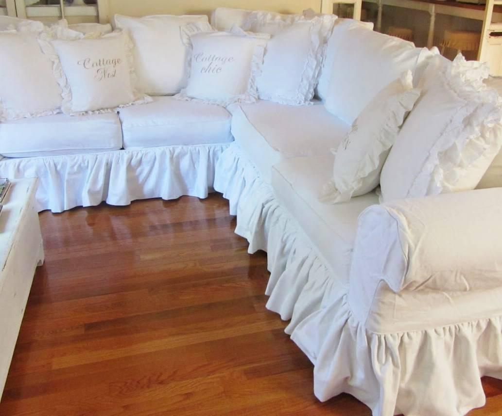 Sofa : Shabby Chic Sofa Slipcovers Breathtaking Shabby Chic Sofa within Shabby Slipcovers (Image 14 of 15)