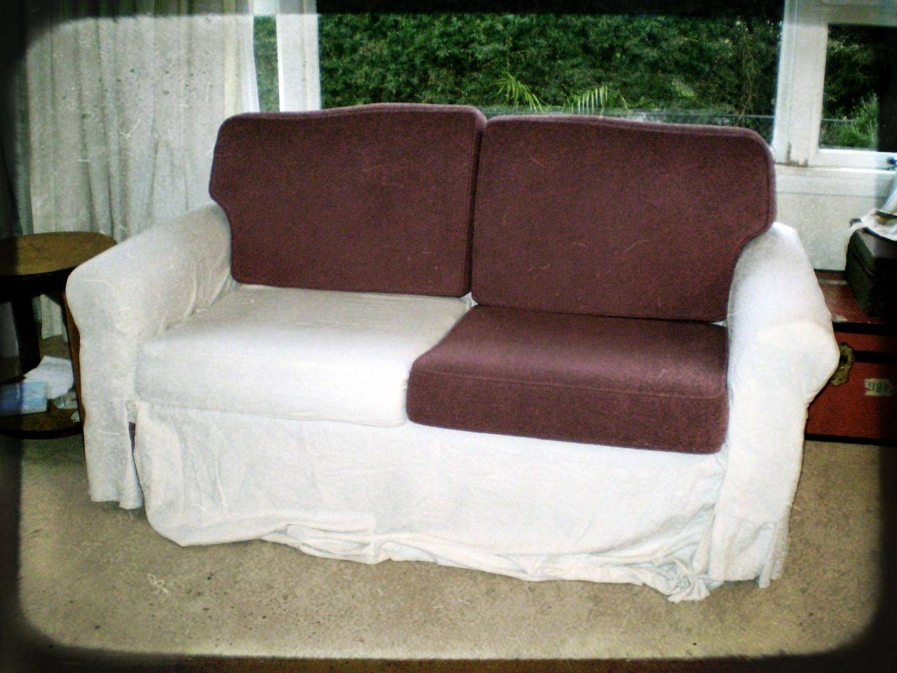 Sofa Slip Cover – During | Offsquare Pertaining To Canvas Sofa Slipcovers (View 11 of 15)