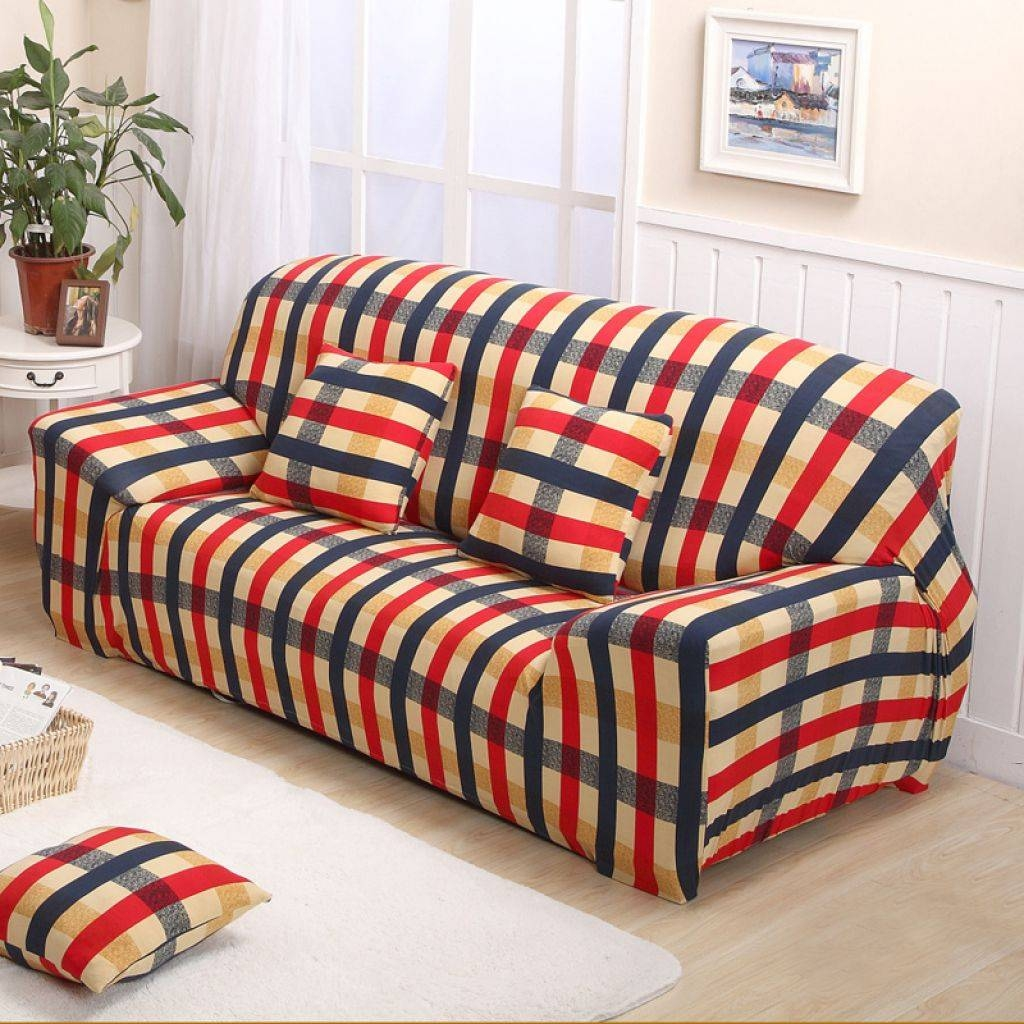 Sofa Slipcover Can Give A New Life | Wearefound Home Design intended for Striped Sofa Slipcovers (Image 9 of 15)