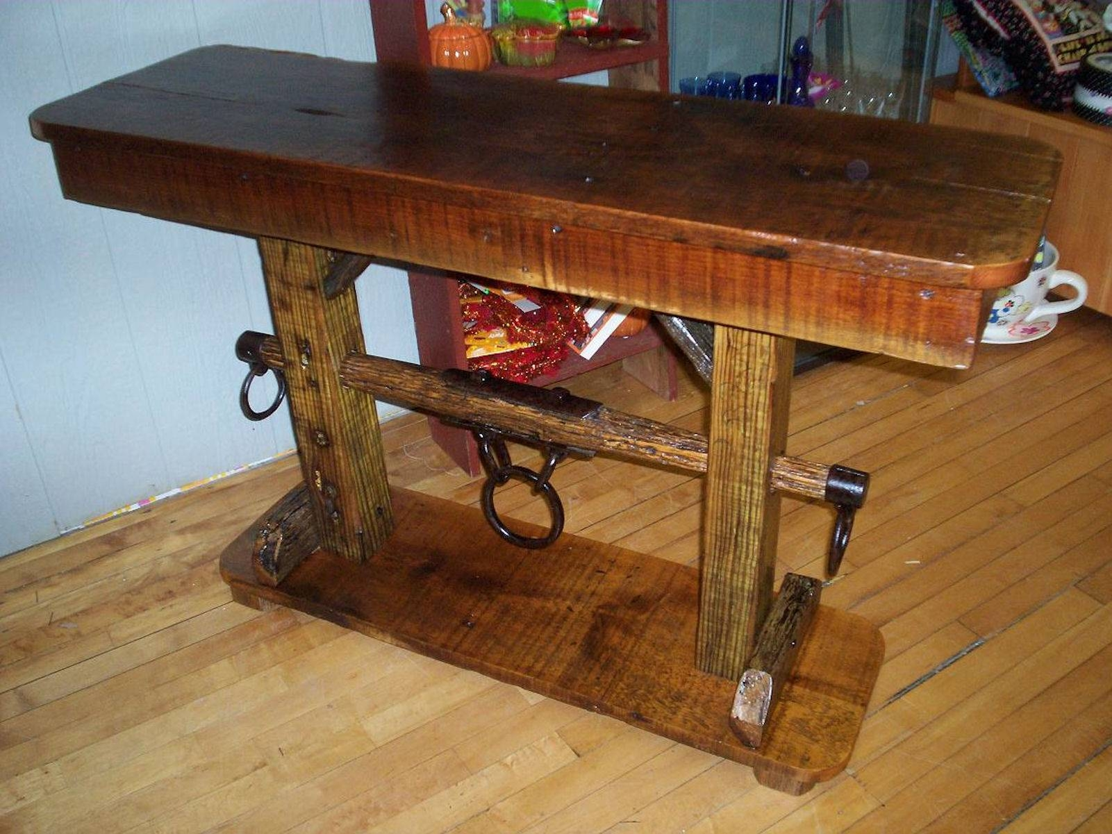 Sofa Table Design: Barn Wood Sofa Table Awesome Rustic Design for Barnwood Sofa Tables (Image 11 of 15)