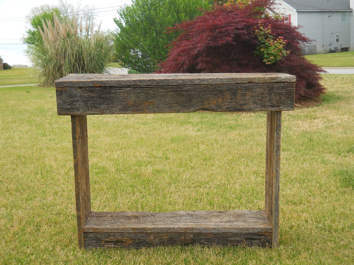 Sofa Table Design: Barn Wood Sofa Table Awesome Vintage Design intended for Barnwood Sofa Tables (Image 12 of 15)