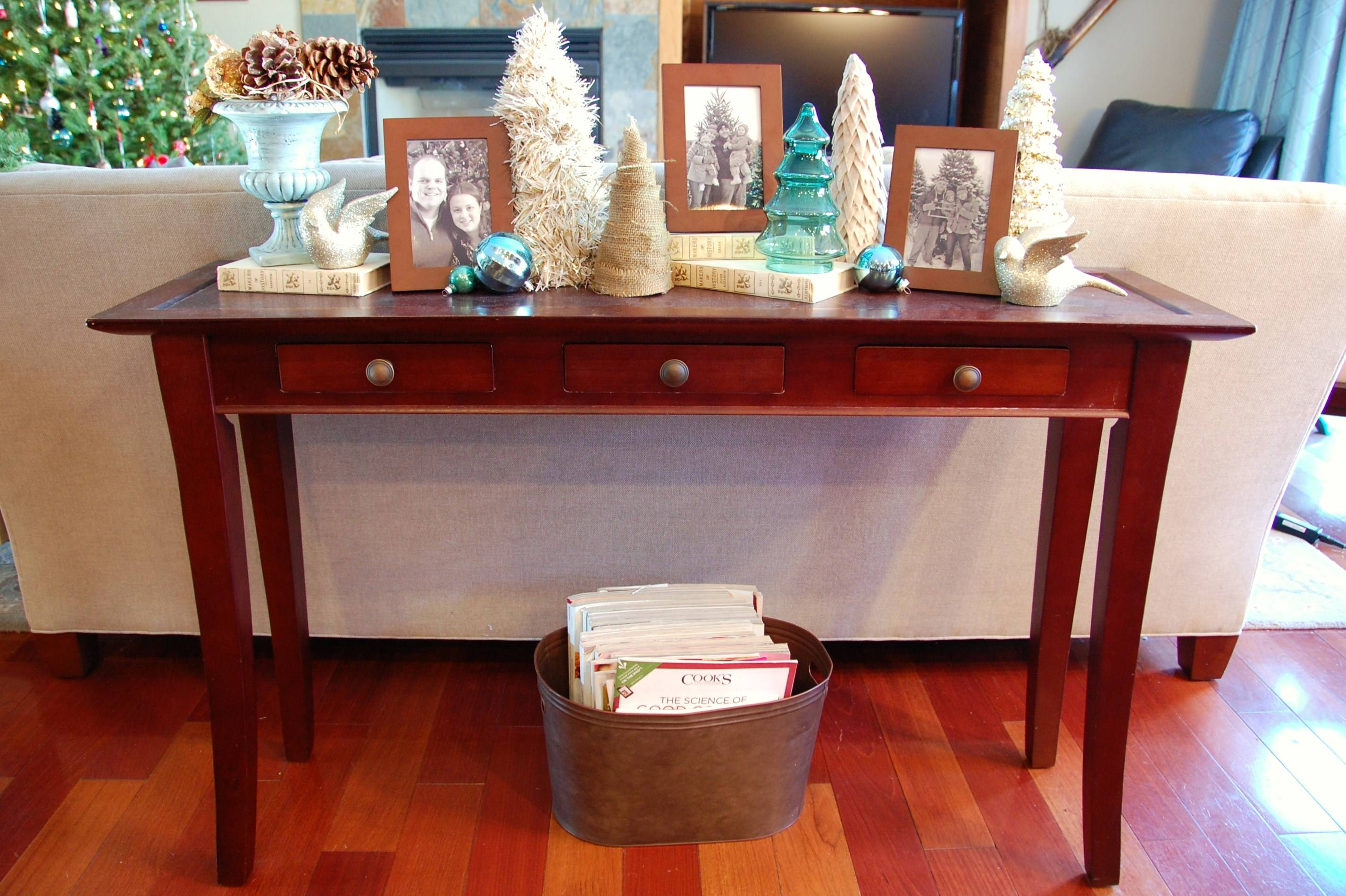 Sofa Table Design: Sofa Table Christmas Decorating Ideas Red Maple within Red Sofa Tables (Image 12 of 15)