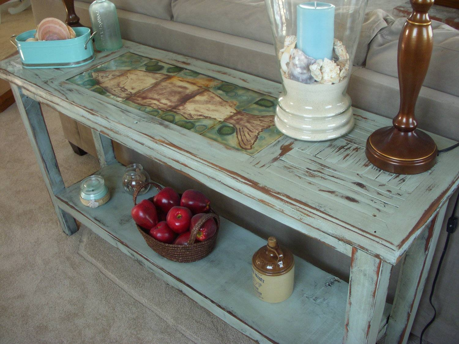 Sofa: Unique Shabby Chic Sofa Table Ideas Farmhouse Sofa Table Diy within Shabby Chic Sofa Tables (Image 15 of 15)