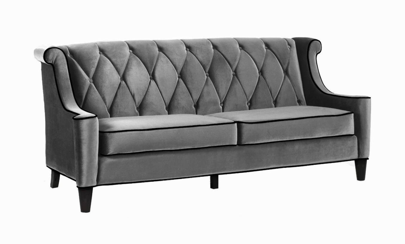 Sofa : Velvet Tufted Sofa Extraordinary Tufted Velvet Sofa Gray for Ava Velvet Tufted Sleeper Sofas (Image 13 of 15)