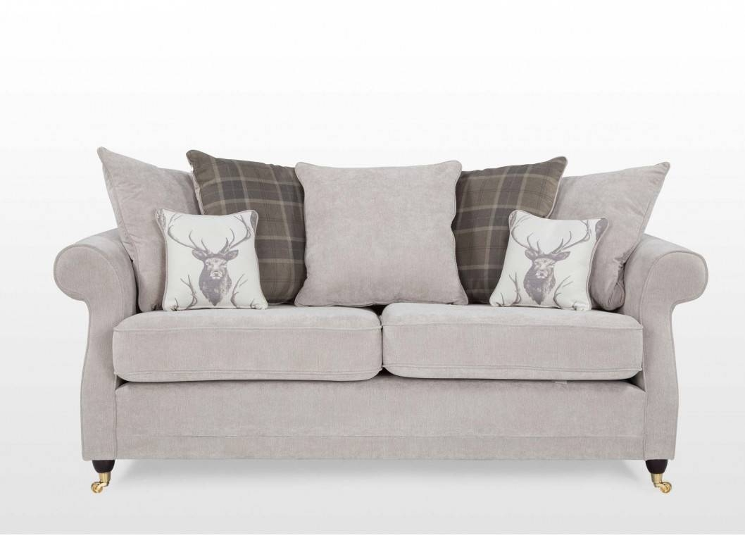Sofas Center : Seater Grey Fabric Pillow Back Sofa Trinity in Loose Pillow Back Sofas (Image 14 of 15)
