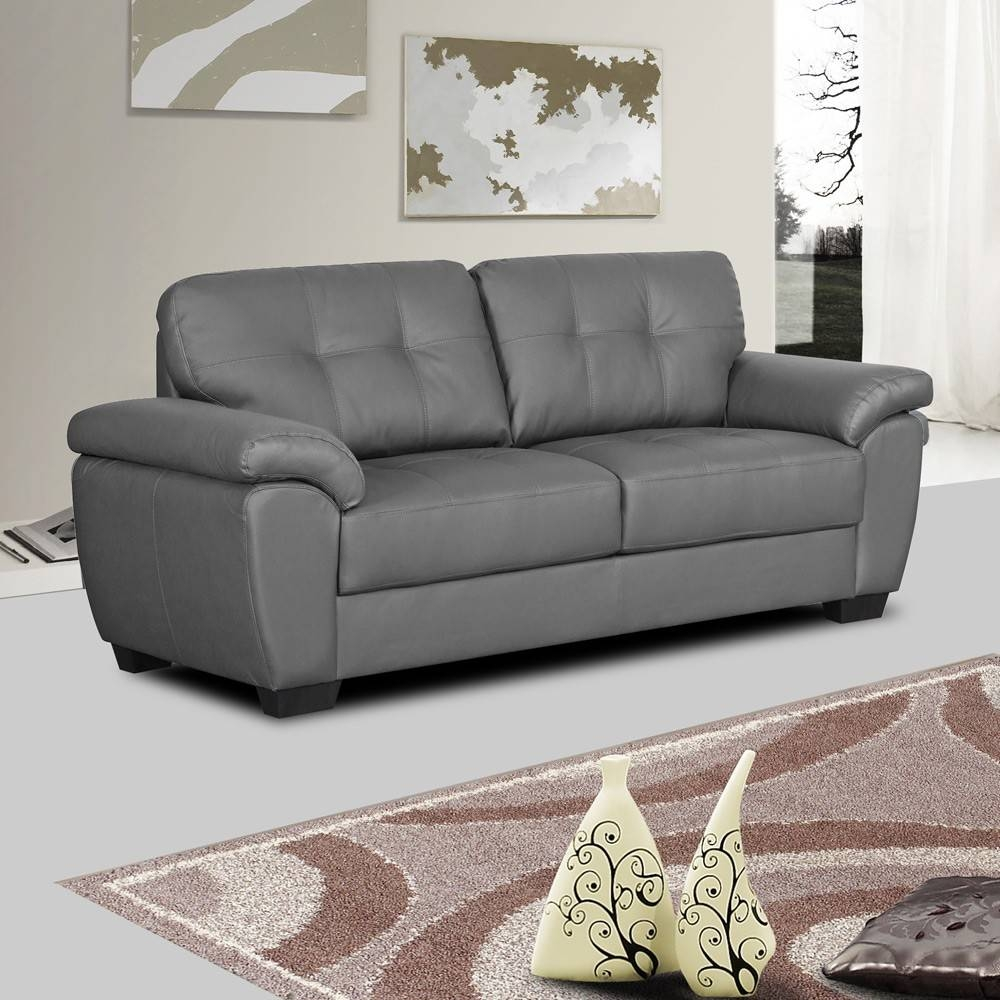 15 best ideas of charcoal grey leather sofas. Black Bedroom Furniture Sets. Home Design Ideas