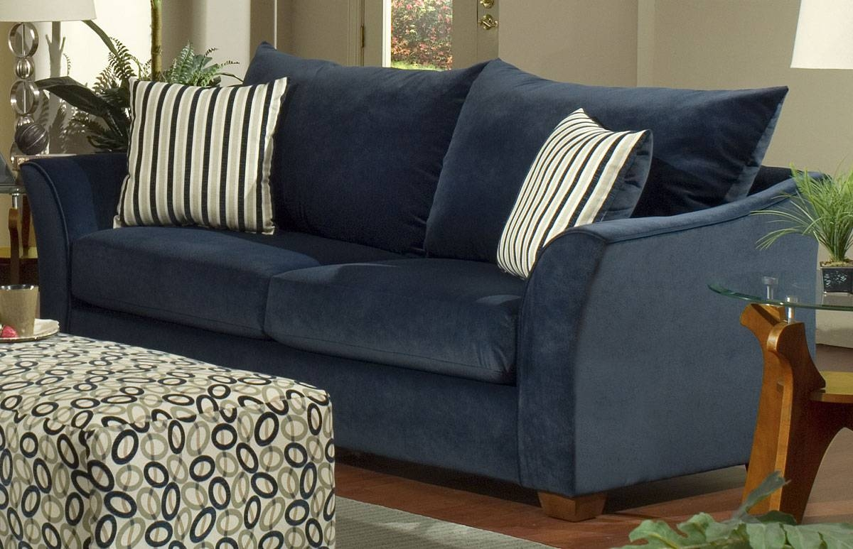 Sofas: Dark Blue Sofa Motives Sofa Table Table Lamp Simple Rugs throughout Blue Sofas (Image 14 of 15)