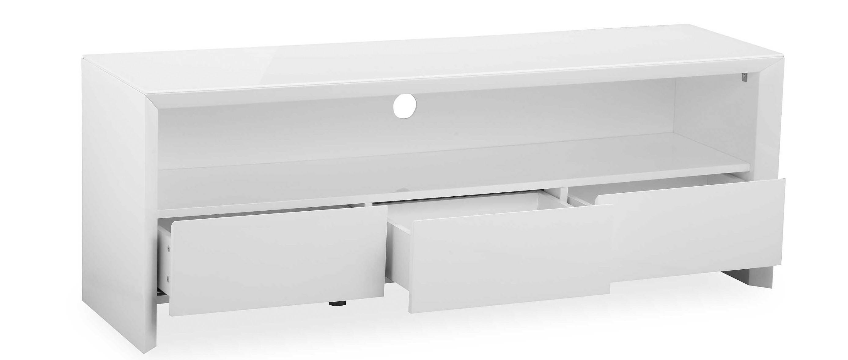 Soho - Large Tv Unit - White High Gloss for Soho Tv Unit (Image 6 of 15)