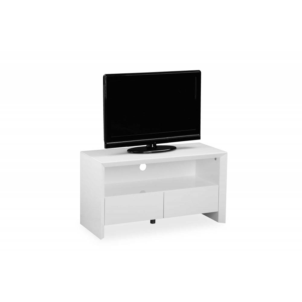 Soho White High Gloss Entertainment Unit 100 Cm regarding Soho Tv Unit (Image 12 of 15)