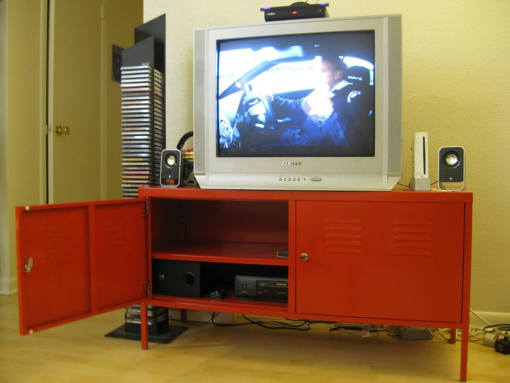 Sold Ikea Ps Red Tv Stand (3/3) - $50 (Http://www.ikea… | Flickr inside Red Tv Stands (Image 11 of 15)