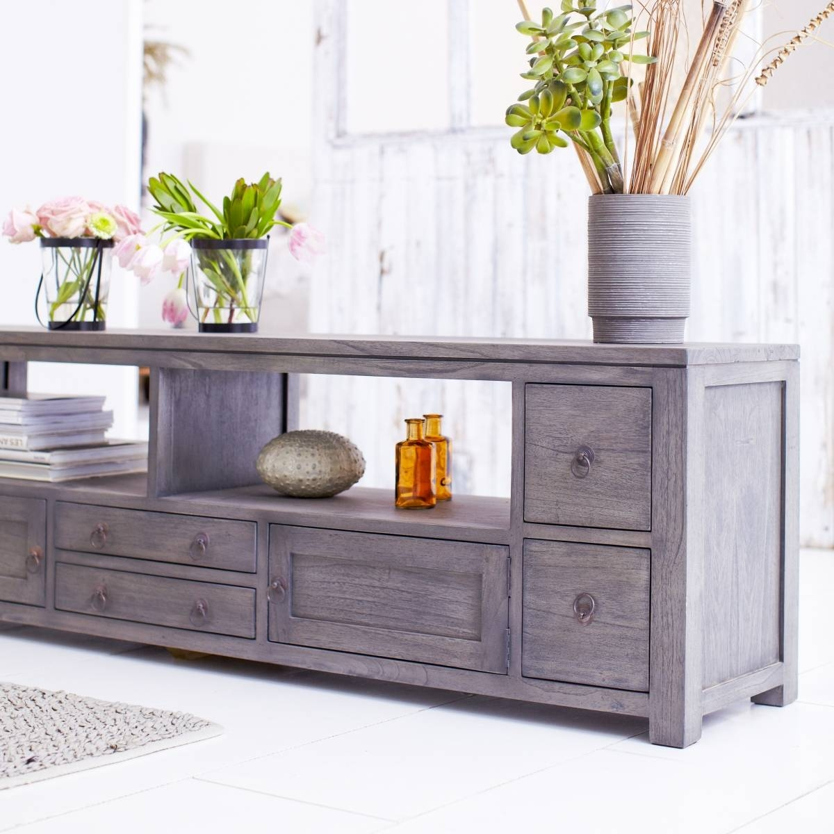 Solid Grey Tv Stand : How To Make Grey Tv Stand – Indoor & Outdoor inside Grey Wood Tv Stands (Image 7 of 15)