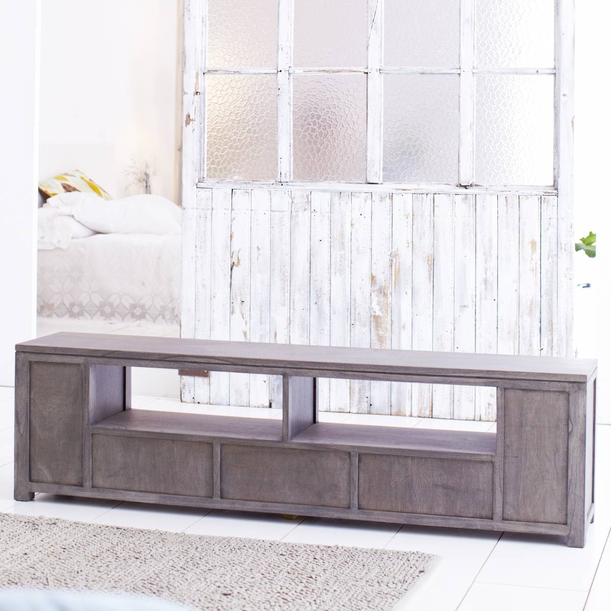 Solid Grey Tv Stand : How To Make Grey Tv Stand – Indoor & Outdoor with regard to Grey Wood Tv Stands (Image 8 of 15)